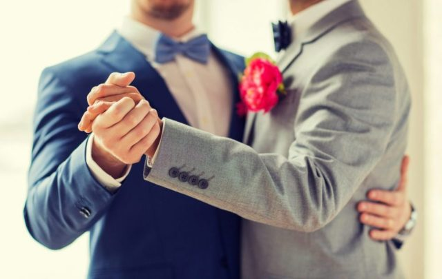 gay men getting married