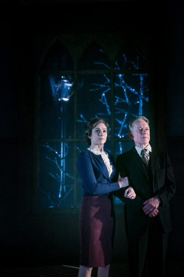 Amanda Ryan as Joy Davidman and Stephen Boxer as C.S. Lewis in Shadowlands. Credit Jack Ladenburg