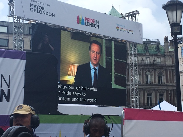 David Cameron booed at Pride