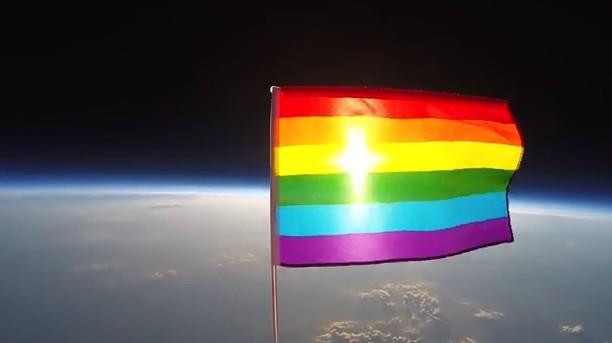 gay flag in Space