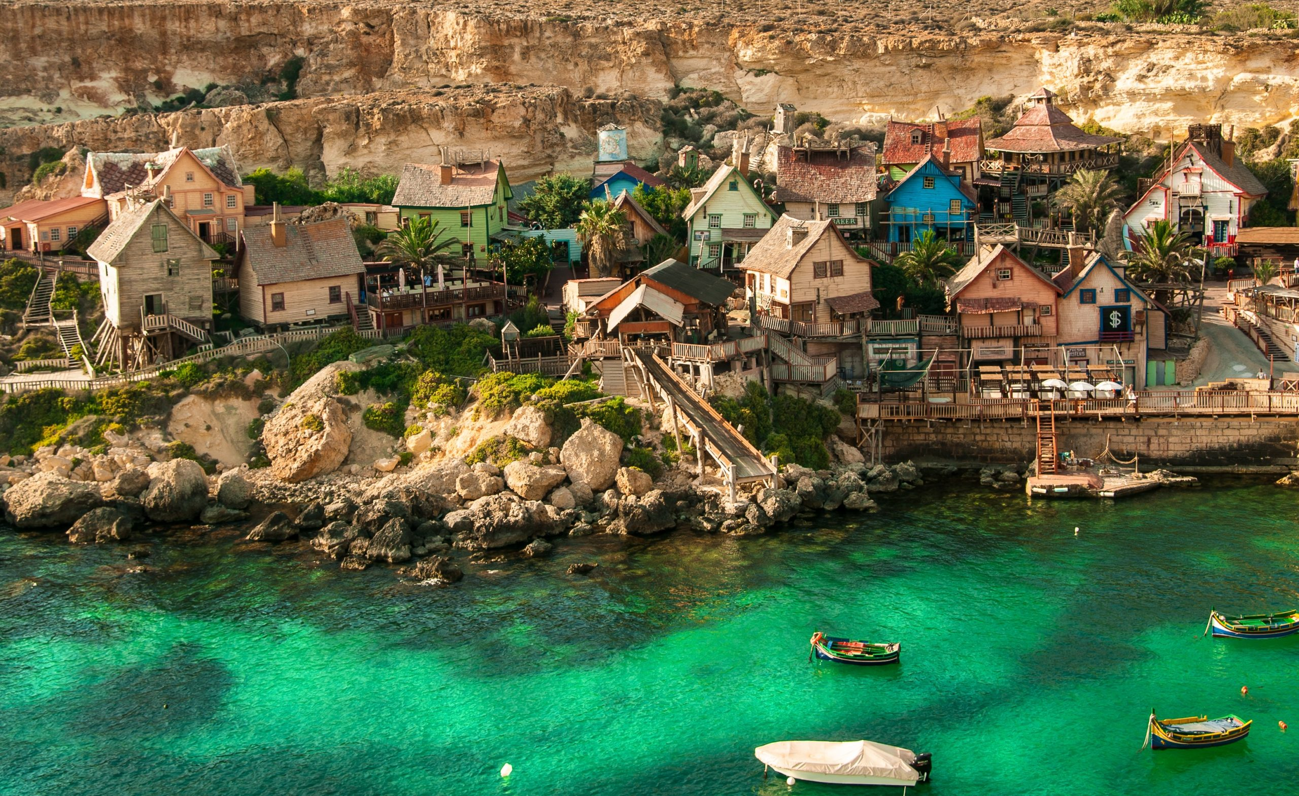 popeye village, malta, architecture