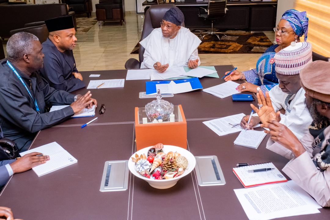 In Pictures, Aregbesola Receives Briefing From Leadership Of NCFRMI