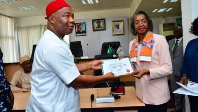 Photo of INEC Gives Uzodinma Certificate Of Return