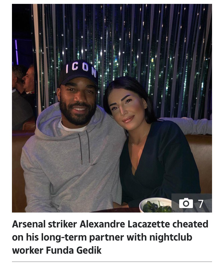 Arsenal Striker Lacazette Caught Cheating With Night Club Worker