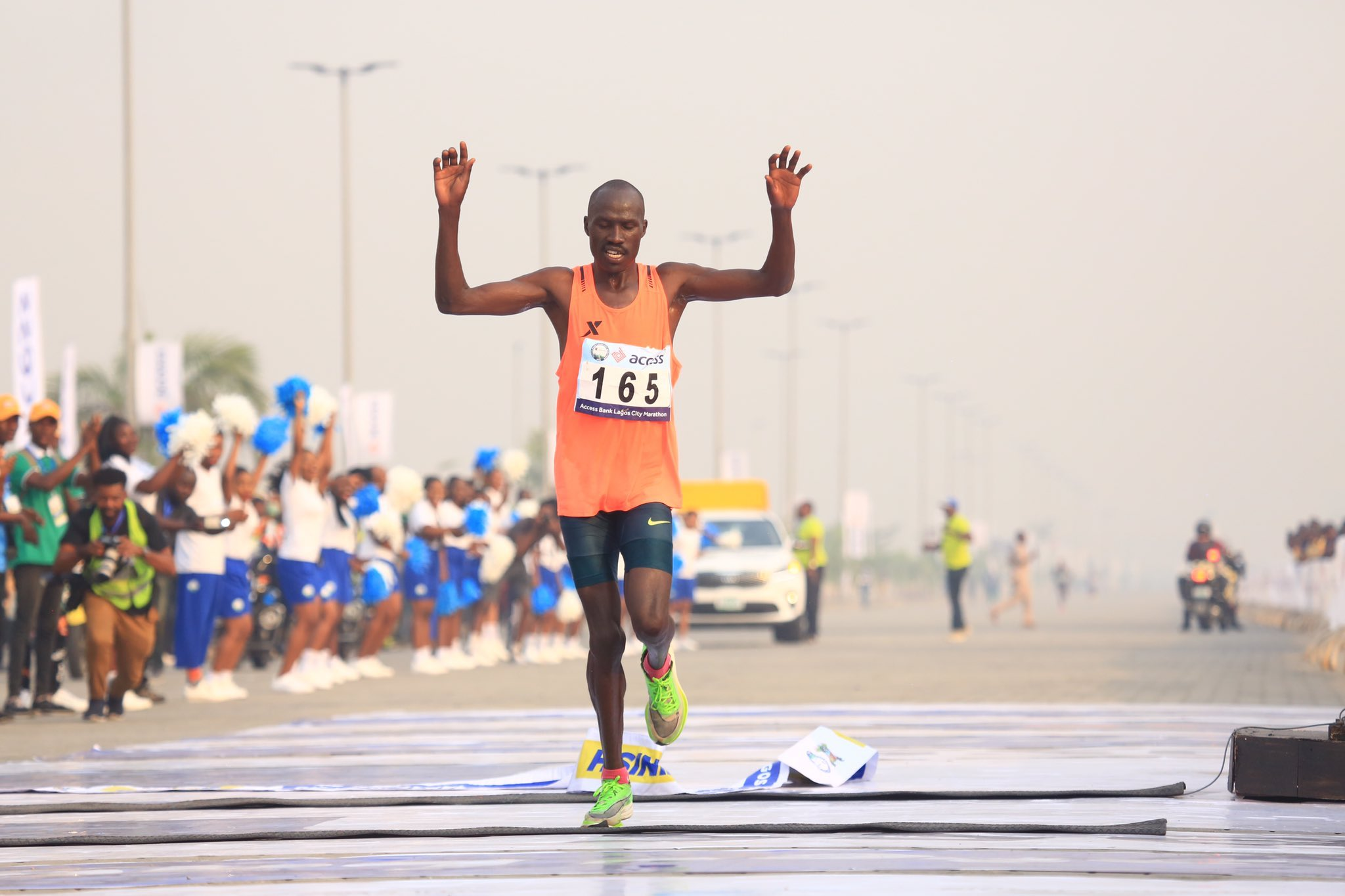 Breaking: Kenya's David Barmasai Tumo Wins The 2020 Lagos City Marathon