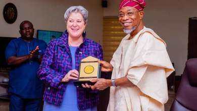 Photo of Images Of US Ambassador Mary Beth Leonard's Visit To Aregbesola