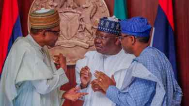 Photo of In Pictures, Buhari, Lawan, Gbajabiamila At Swearing-in Of National Assembly Commission Members