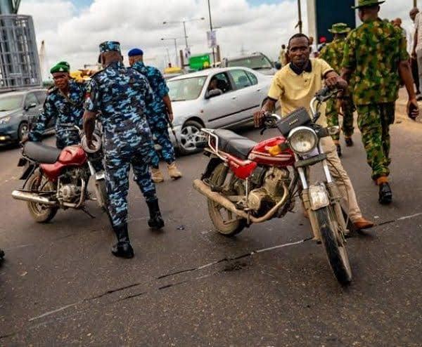 Breaking: Okada Riders, Taskforce Officials Clash In Lagos + Video