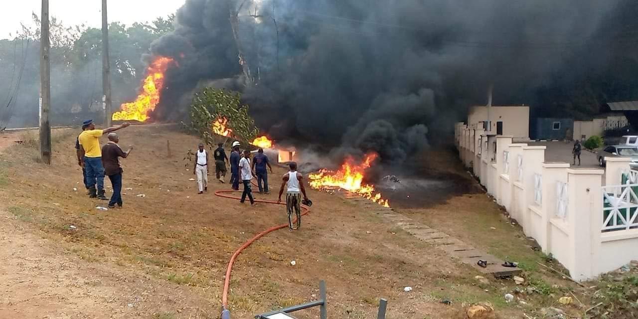 Just In: Petrol Tanker Explodes In Abeokuta + Videos, Photo