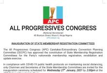 Photo of Confusion As APC Debunks Postponement Of Membership Registration Exercise