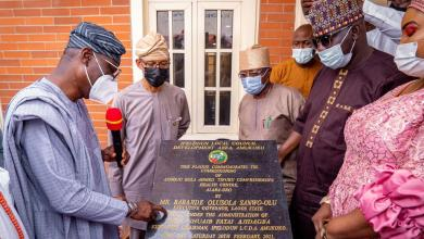 Photo of Sanwo-Olu Inaugurates Fully Equipped Primary Health Centre In Ifelodun LCDA; Lagos Council Boss Turns Dumpsite To Hospital