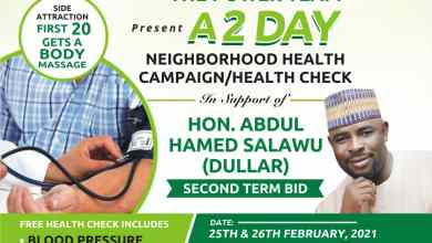 Photo of Health & Wellness Firm Drums Support For Dullar's Second Term, Holds 2-day Free Health Support Programme
