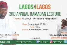 Photo of Lagos4Lagos Movement Hosts 3rd Annual Ramadan Lecture