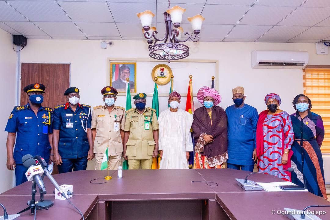 In Pictures, Aregbesola Decorates New Controller-General Of NCoS, Haliru Nababa
