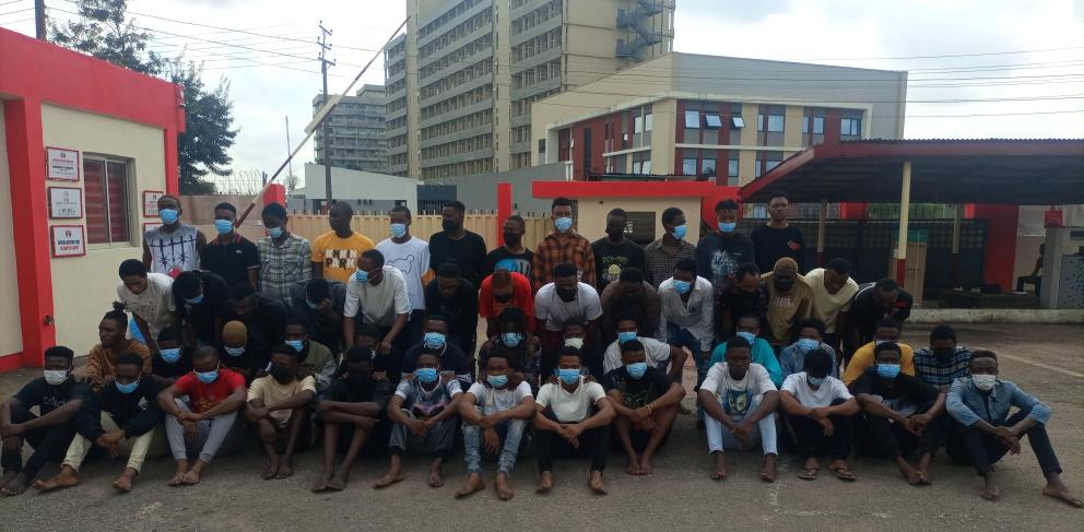 EFCC Arrests 52 'Yahoo' Boys In Benin City