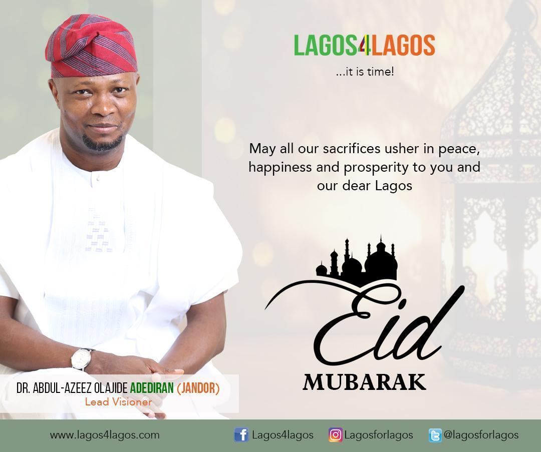 Jandor Felicitates With Muslims Faithful On Eid Fitri