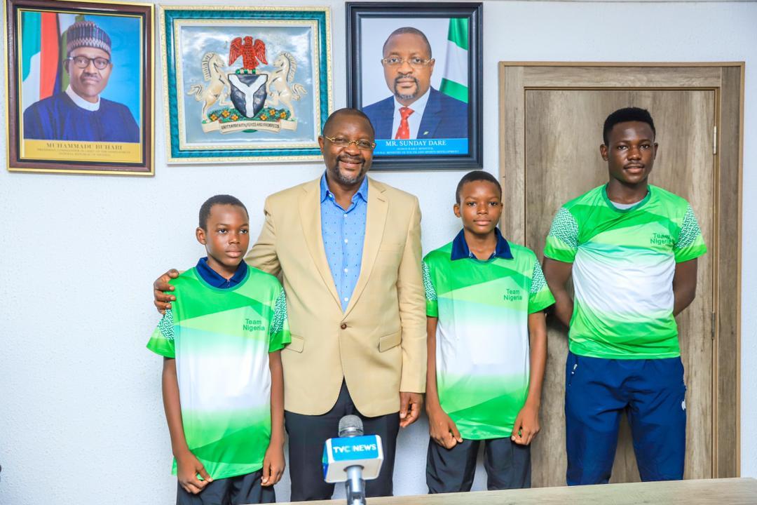 Minister Adopts Young Table Tennis Prodigies Okanlawon, Mustapha Brothers