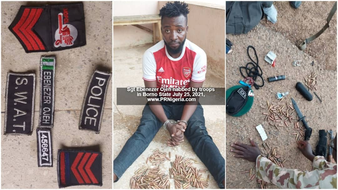 Troops Nab 'Police Sergeant' With Ammunitions, Grenade In Borno