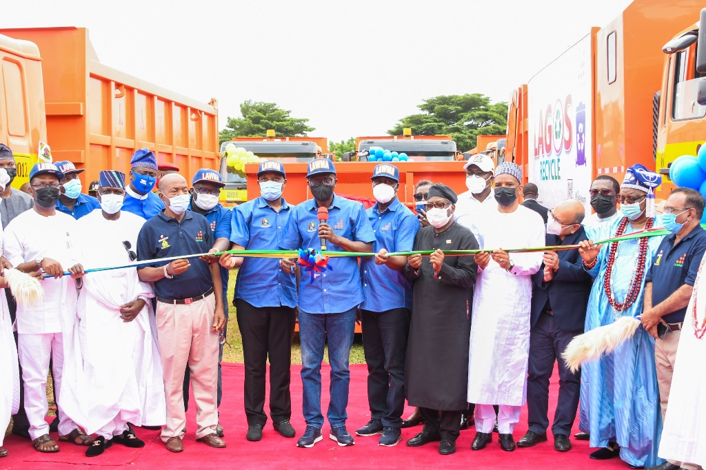 Sanwo-Olu Launches 102 Locally-assembled Compactor Trucks, 100 Dino Bins To Boost Waste Collection