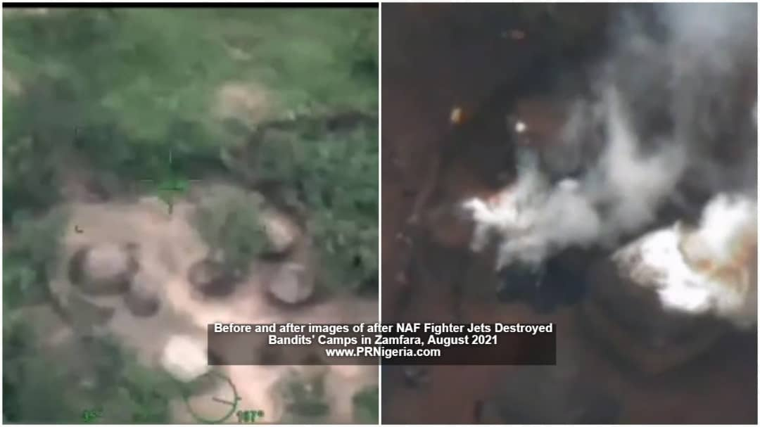 NAF Fighter Jets Destroy Bandits' Camp, Kill 78 In 3-day Bombardments + Photos
