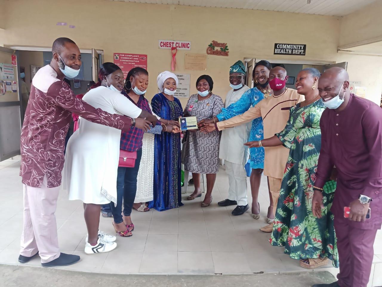 In Pictures, Kami-J Fans Club Visits Igando-Ikotun LCDA Boss, Igando Gen Hospital