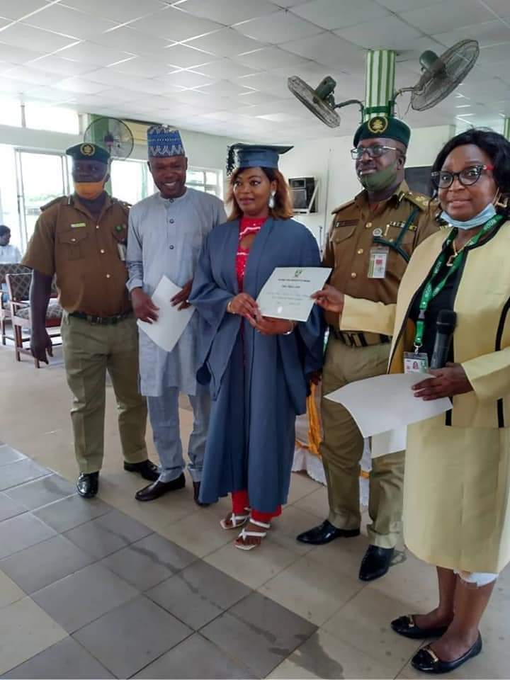 Female Inmate Tops With Second Class Upper Degree As 8 Prisoners Graduate From NOUN + Photo