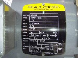 Electric Motor Data Sheet  Klistoff Equipment & Machinery, Inc Tel: 5039820530