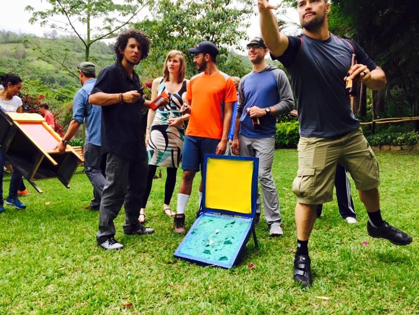 playing tejo