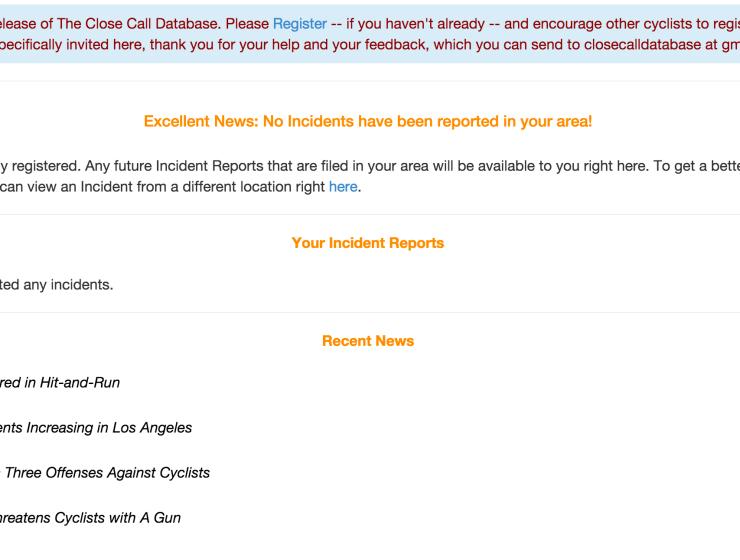 close call database