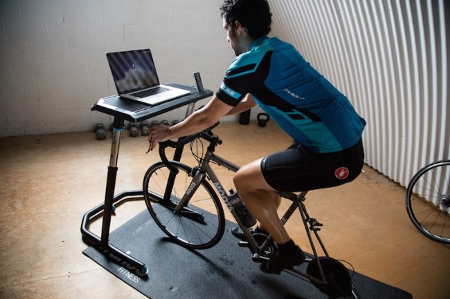 Wahoo cycling desk