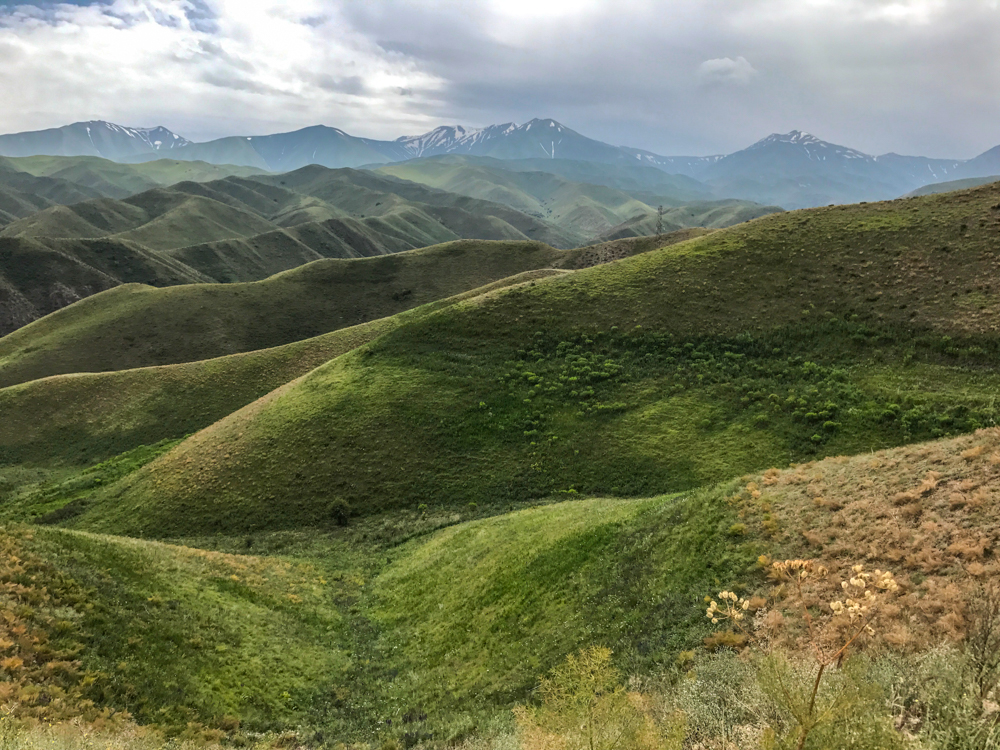 rolling hills Tien Shan