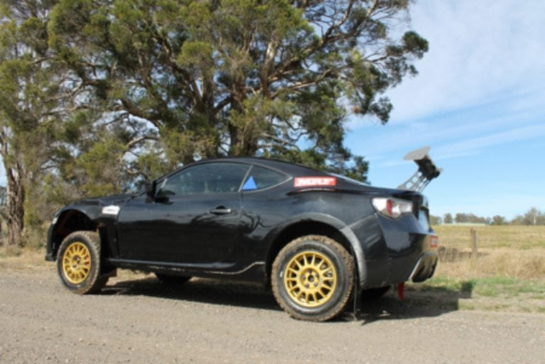 The AWDBRZ rally car. | image: Peter Dunn