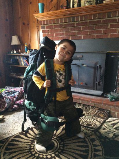 A big backpack, and a bigger imagination.