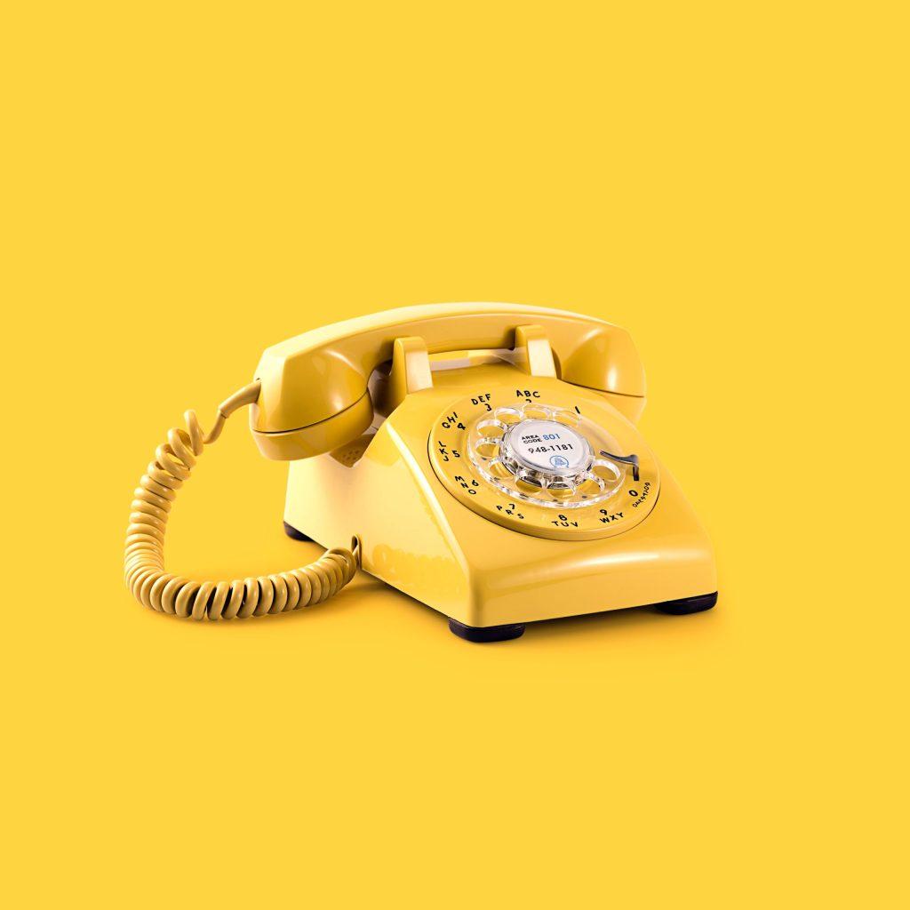 yellow rotary phone
