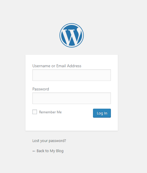 wordpress login page wp-admin