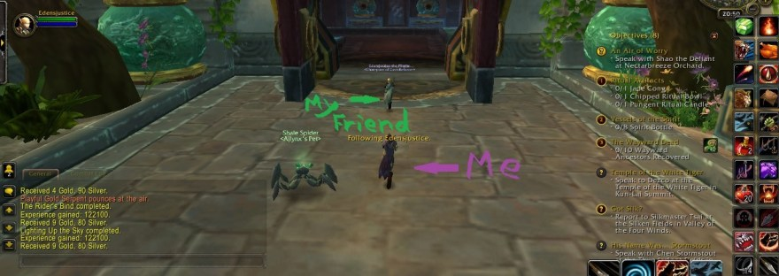 screencap from wow