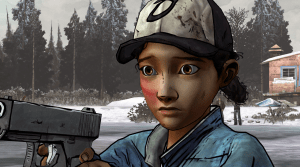 clementine at the lake in the walking dead video game