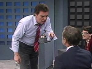 "Morton Downey Jr. on ""The Morton Downey Jr. Show"""