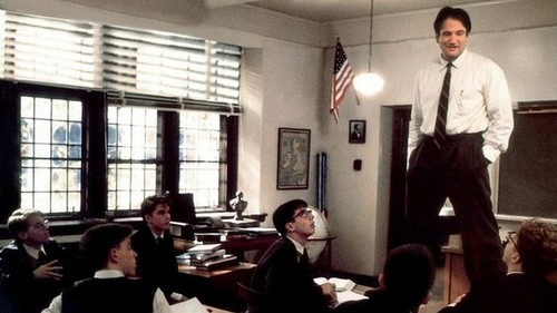 dead poets' society oh captain robin williams screenshot