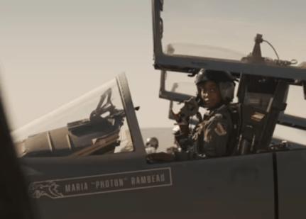 fighter jet in trailer
