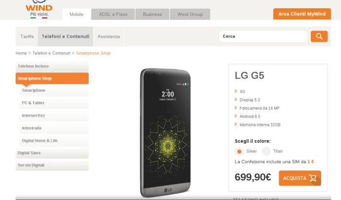 LG G5 Wind