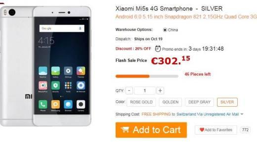 offerta xiaomi mi5s