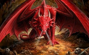 red dragons horns gold fantasy art armor horde skeletons creatures swords_www.wallpaperhi.com_86