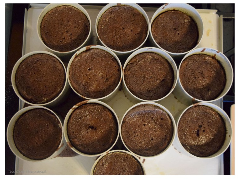 Chocolate Bouchons baked and cooling