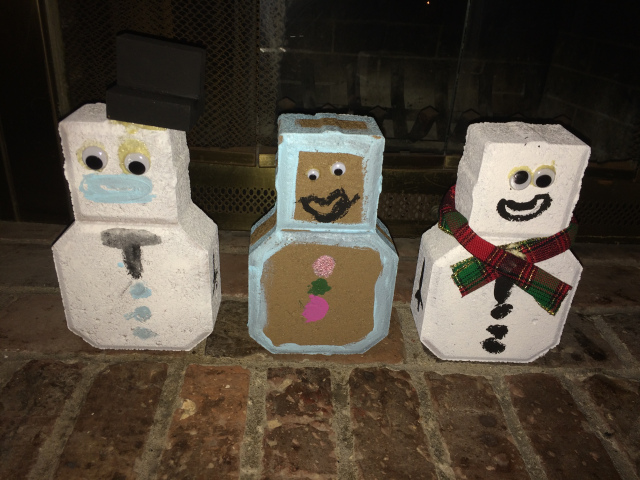 Paver Snowmen/Gingerbread Men