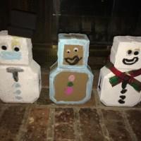 Paver Snowmen/Gingerbread Men