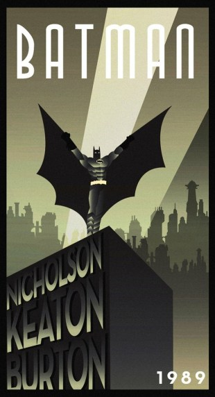 Batman Art Deco Movie Poster
