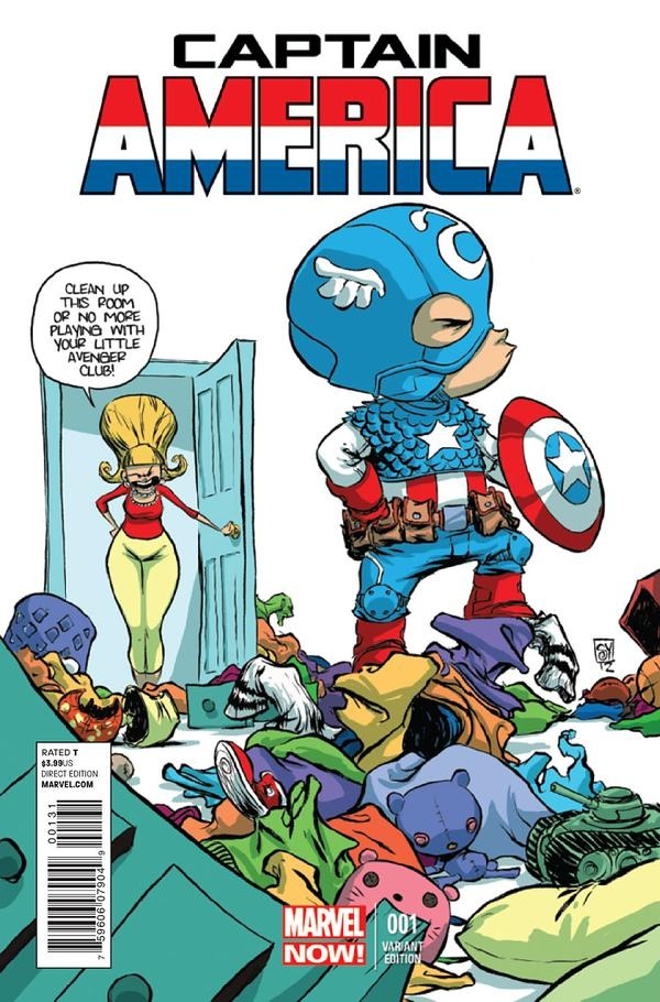 Captain America #1 variant cover by Skottie Young