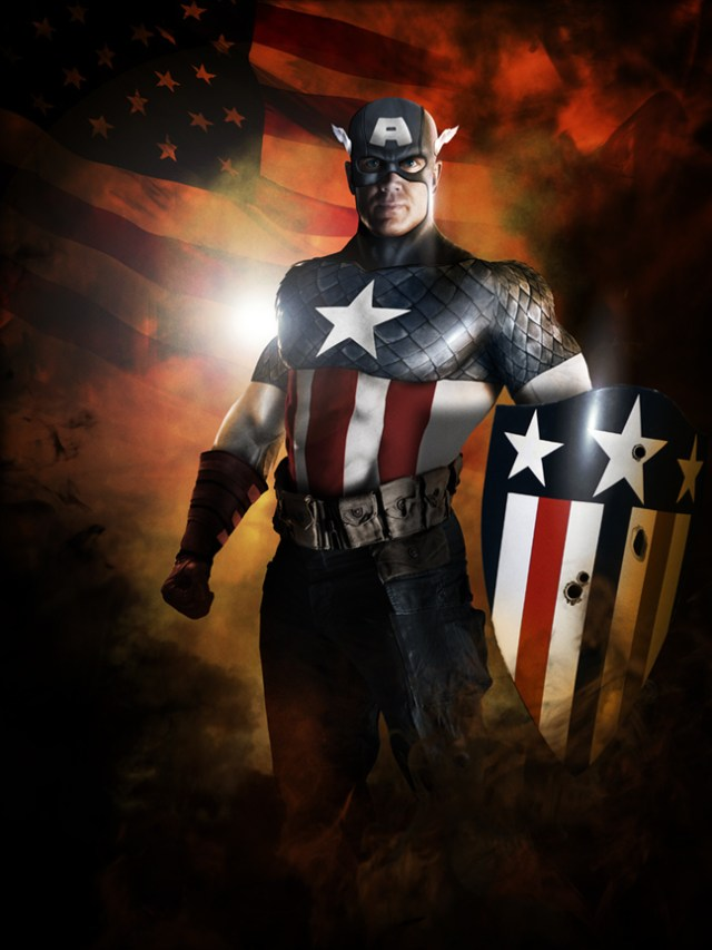 Captain America photomanipulated cosplay by Harben Pictures