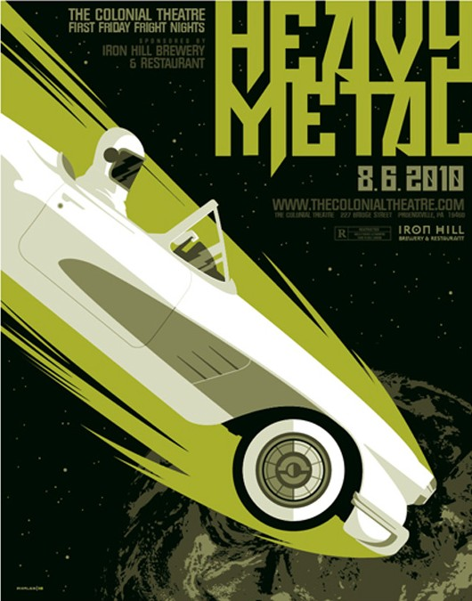 Heavy Metal movie poster by Tom Whalen